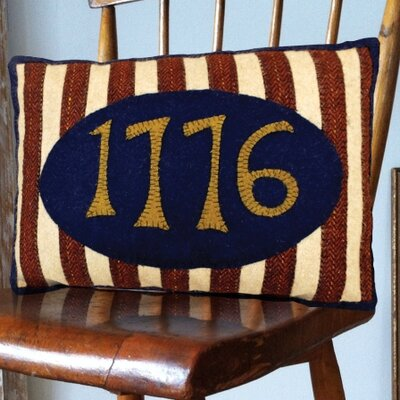 1776 Hand-Crafted Applique Lumbar Pillow