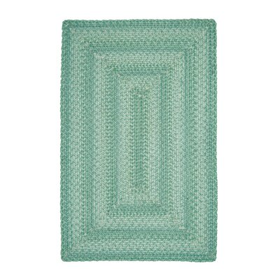 Sea Green Indoor/Outdoor Area Rug Rug Size: Runner 26 x 6