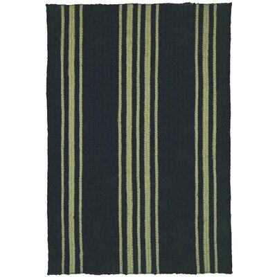 Smith Farmhouse Black Area Rug Rug Size: 6 x 9