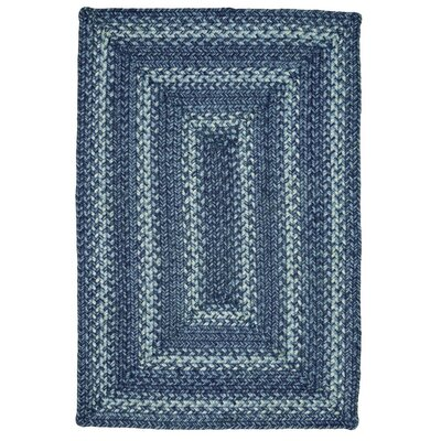 Denim Jute Blue Area Rug Rug Size: 18 x 26