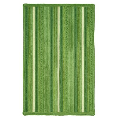 Portsmouth  Green Indoor/Outdoor Area Rug Rug Size: 23 x 39
