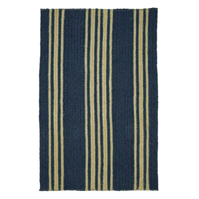 Clark Farmhouse Navy Area Rug Rug Size: 18 x 26