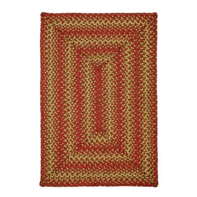 Apple Pie Red Area Rug Rug Size: Oval 4 x 6