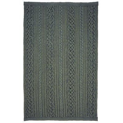 Laguna Braided Silver Indoor/Outdoor Area Rug Rug Size: 5 x 8