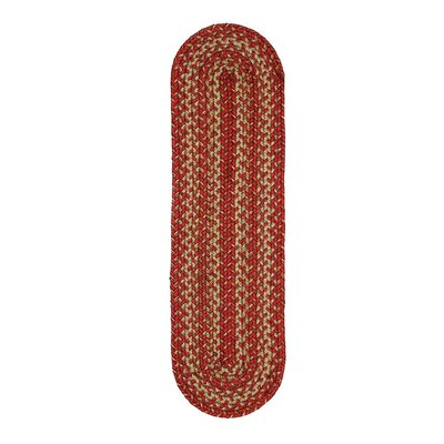 Apple Pie Red Area Rug Rug Size: Oval 8 x 10