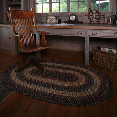 Wool Cambridge Area Rug Rug Size: Oval 6' x 9'