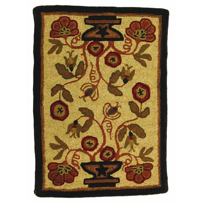 Hooked Potted Flower Area Rug Rug Size: Rectangle 2 x 3