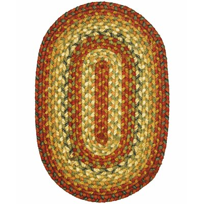 Graceland Peach Area Rug Rug Size: Oval 18 x 26