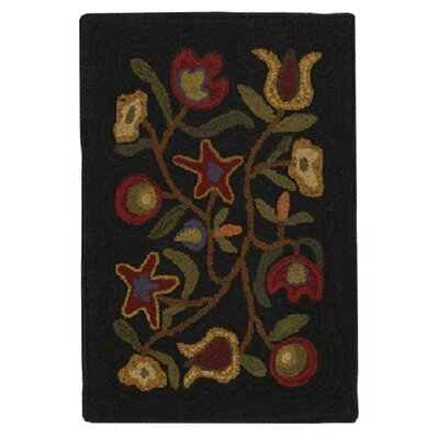 Hooked Walk In The Flowers Area Rug Rug Size: 2 x 3