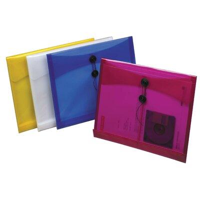 1 Assorted Colors Side Load Poly String Envelope