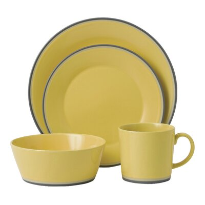 Colours 4 Piece Place Setting Color: Yellow 40009816