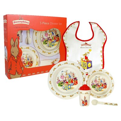 Bunnykins Melamine 5 Piece Dinnerware Set 28956032