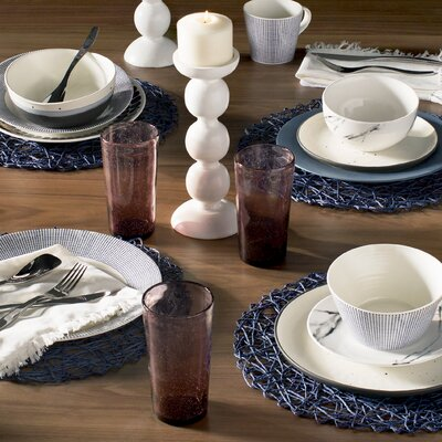 Royal Doulton Pacific 16 Piece Dinnerware Set, Service for 4 40009464