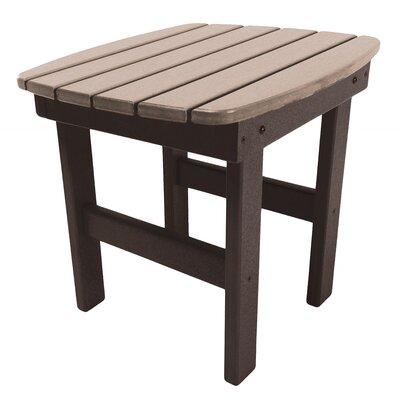Essentials Side Table Finish: Chocolate/Weatherwood