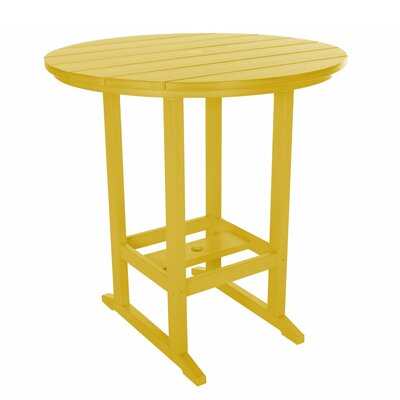 Essentials Bar Table Finish: Yellow