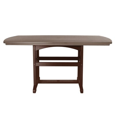 Dining Table Finish: Chocolate/Weatherwood