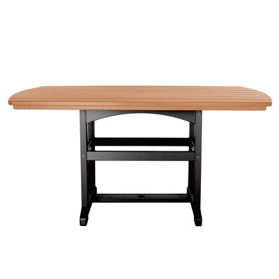 Dining Table Finish: Black/Cedar