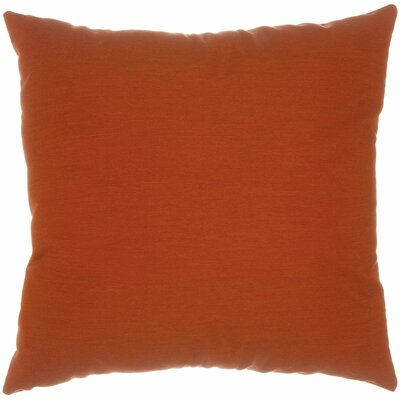 Indoor/Outdoor Sunbrella Throw Pillow Color: Canvas Brick, Size: 24