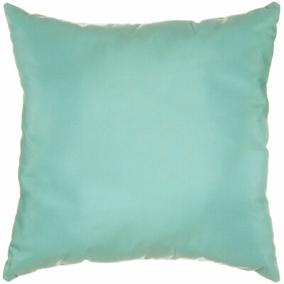 Indoor/Outdoor Sunbrella Throw Pillow Color: Canvas Glacier, Size: 18