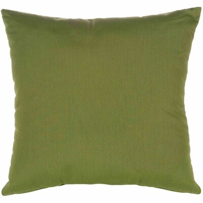 Indoor/Outdoor Sunbrella Throw Pillow Color: Canvas Turf, Size: 18 x 18