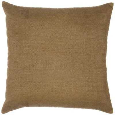 Indoor/Outdoor Sunbrella Throw Pillow Color: Linen Sesame, Size: 18