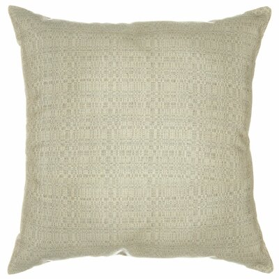 Halliburton Indoor/Outdoor Sunbrella Throw Pillow Color: Linen Silver, Size: 18 x 18