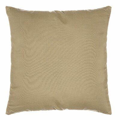 Indoor/Outdoor Sunbrella Throw Pillow Color: Spectrum Sand, Size: 18