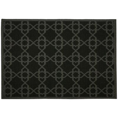 Antebellum Black Geometric Indoor/Outdoor Area Rug Rug Size: 5 x 7