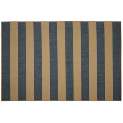 Beach Service Blue Stripe Indoor/Outdoor Area Rug Rug Size: 2 x 3
