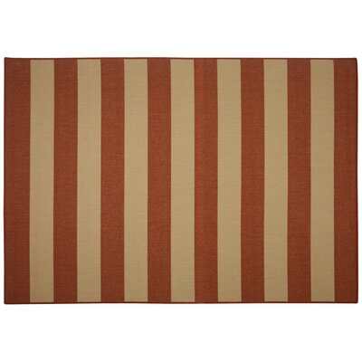 Edgemont Red Stripe Indoor/Outdoor Area Rug Rug Size: Rectangle 5 x 7