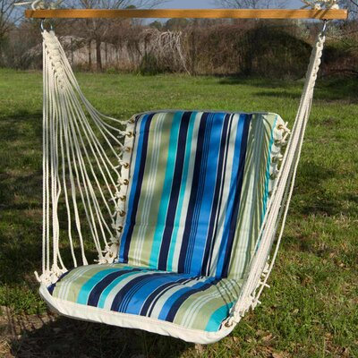 Pawleys Island Cushioned Single Cotton Chair Hammock Color: Beaches Stripe