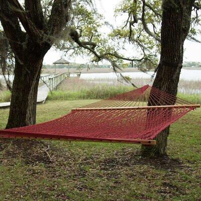 Pawleys Island Presidential Size Original DuraCord Rope Tree Hammock Color: Garnet