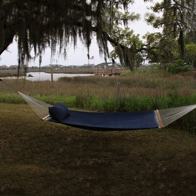 Large SoftWeave Cotton Tree Hammock Color: Blue