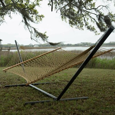 Pawleys Island Presidential Size Original DuraCord Rope Tree Hammock Color: Tan