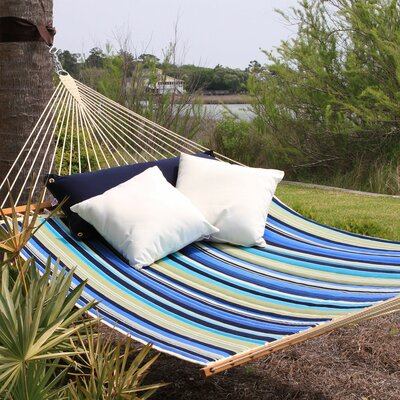 Garden Large Striped Quilted DuraCord Tree Hammock Color: Beaches Stripe
