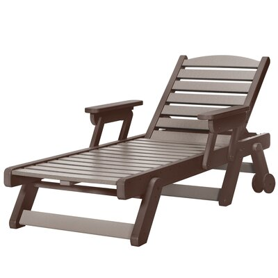 Wheeled Chaise Lounge Color: Chocolate/Weatherwood