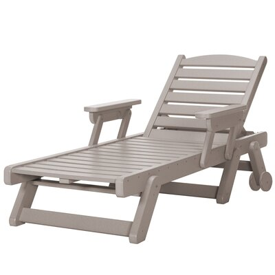 Wheeled Chaise Lounge Color: Weatherwood