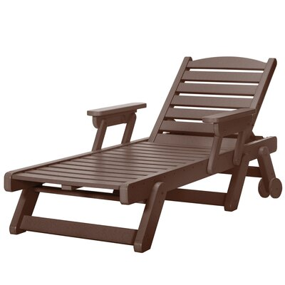 Wheeled Chaise Lounge Color: Chocolate