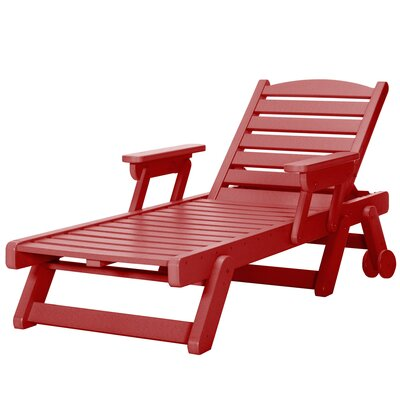 Wheeled Chaise Lounge Color: Red