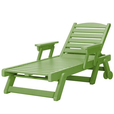 Wheeled Chaise Lounge Color: Lime