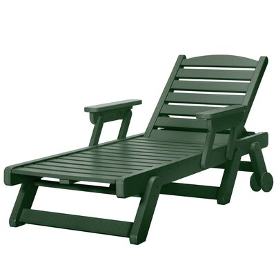 Wheeled Chaise Lounge Color: Pawleys Green