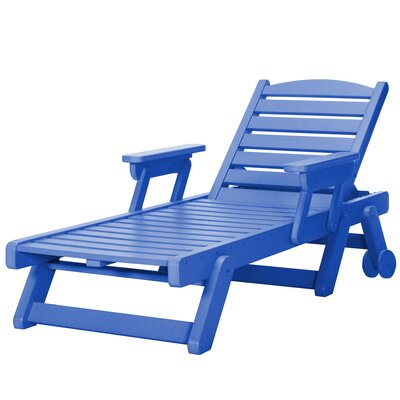 Wheeled Chaise Lounge Color: Blue