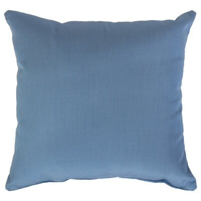 Indoor/Outdoor Sunbrella Throw Pillow Color: Air Blue, Size: 18 x 18