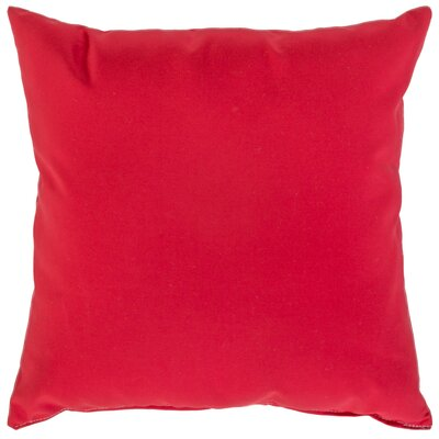 Indoor/Outdoor Sunbrella Throw Pillow Color: Jockey Red, Size: 18 x 18