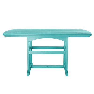 Dining Table Finish: Turquoise, Size: 45 L x 46 W