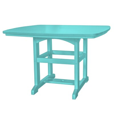 Dining Table Finish: Turquoise, Size: 60 L x 46 W