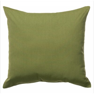 Indoor/Outdoor Sunbrella Throw Pillow Color: Spectrum Cilantro, Size: 24 x 24