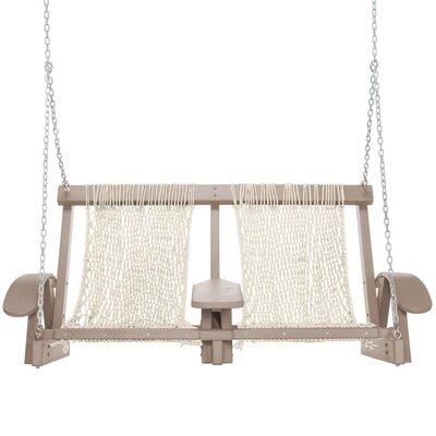 Coastal Porch Swing Finish: Weatherwood, Fabric: Oatmeal