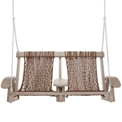 Coastal Porch Swing Finish: Weatherwood, Fabric: Antique Brown