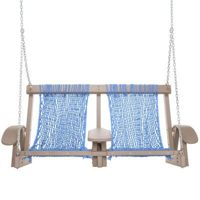 Coastal Porch Swing Finish: Weatherwood, Fabric: Coastal Blue